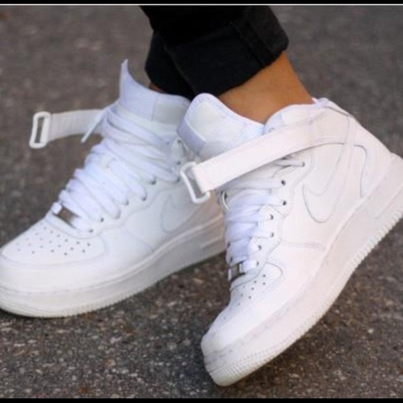all white air force ones high - 64% OFF